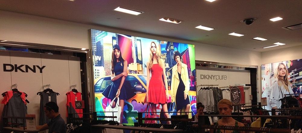 DKNY backlit wall graphics