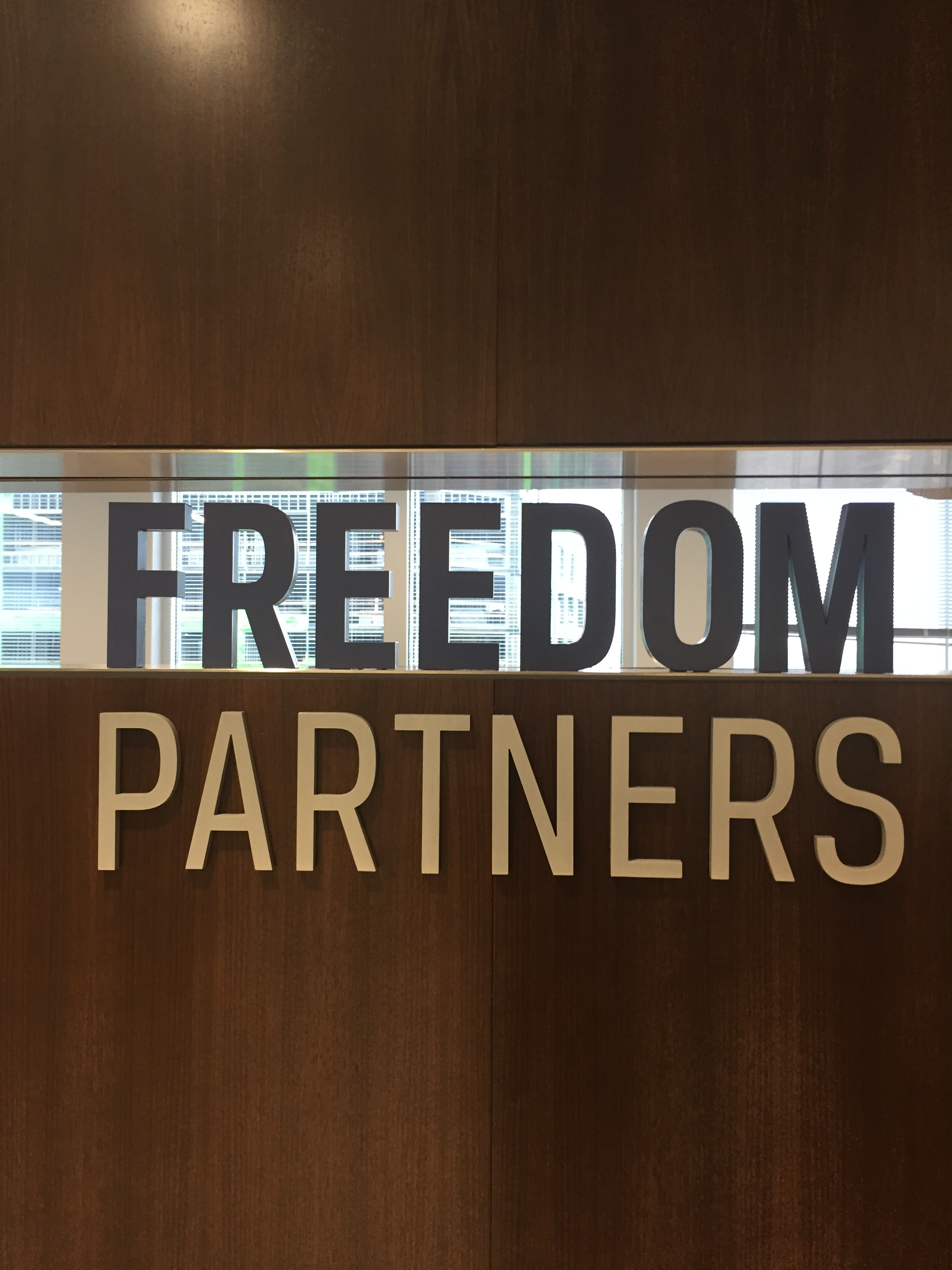 Freedom Partners letter sign