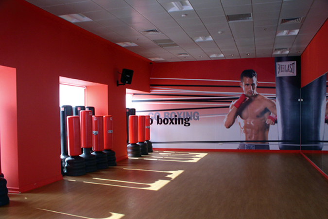 Wall decals at gym