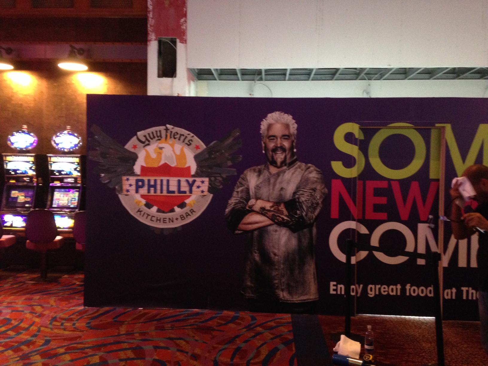 Guy Fieri wall graphics in casino