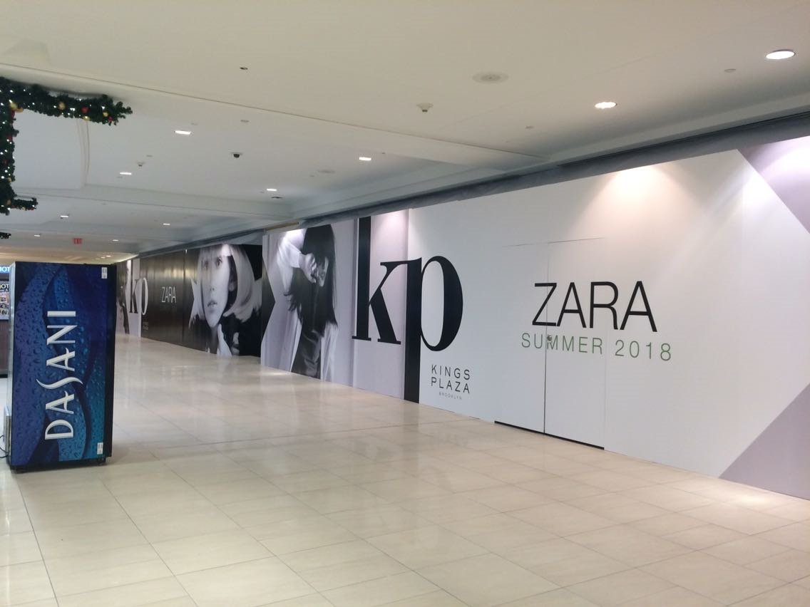 Wall graphics in mall