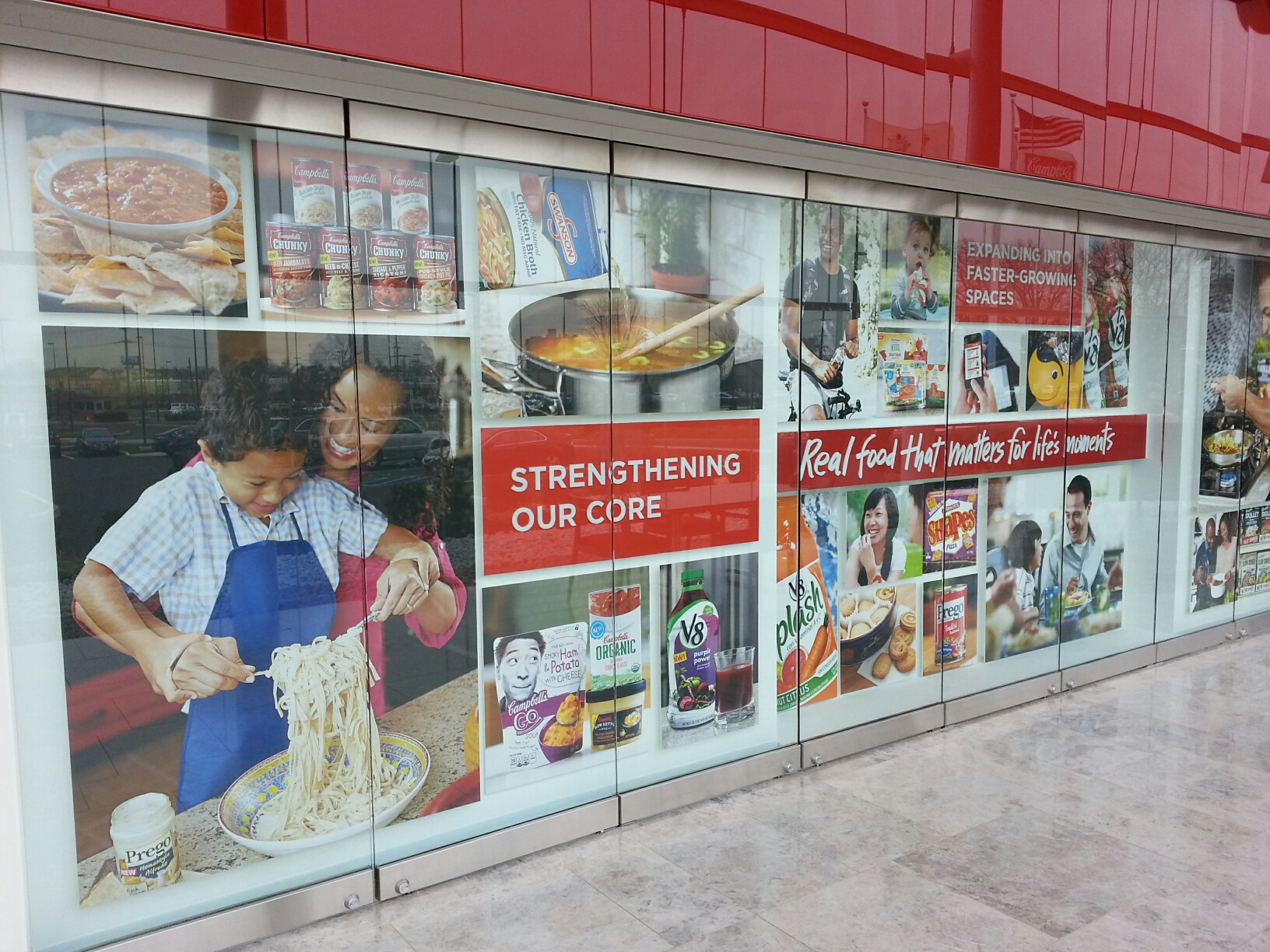 Campbell's Soup lobby graphics