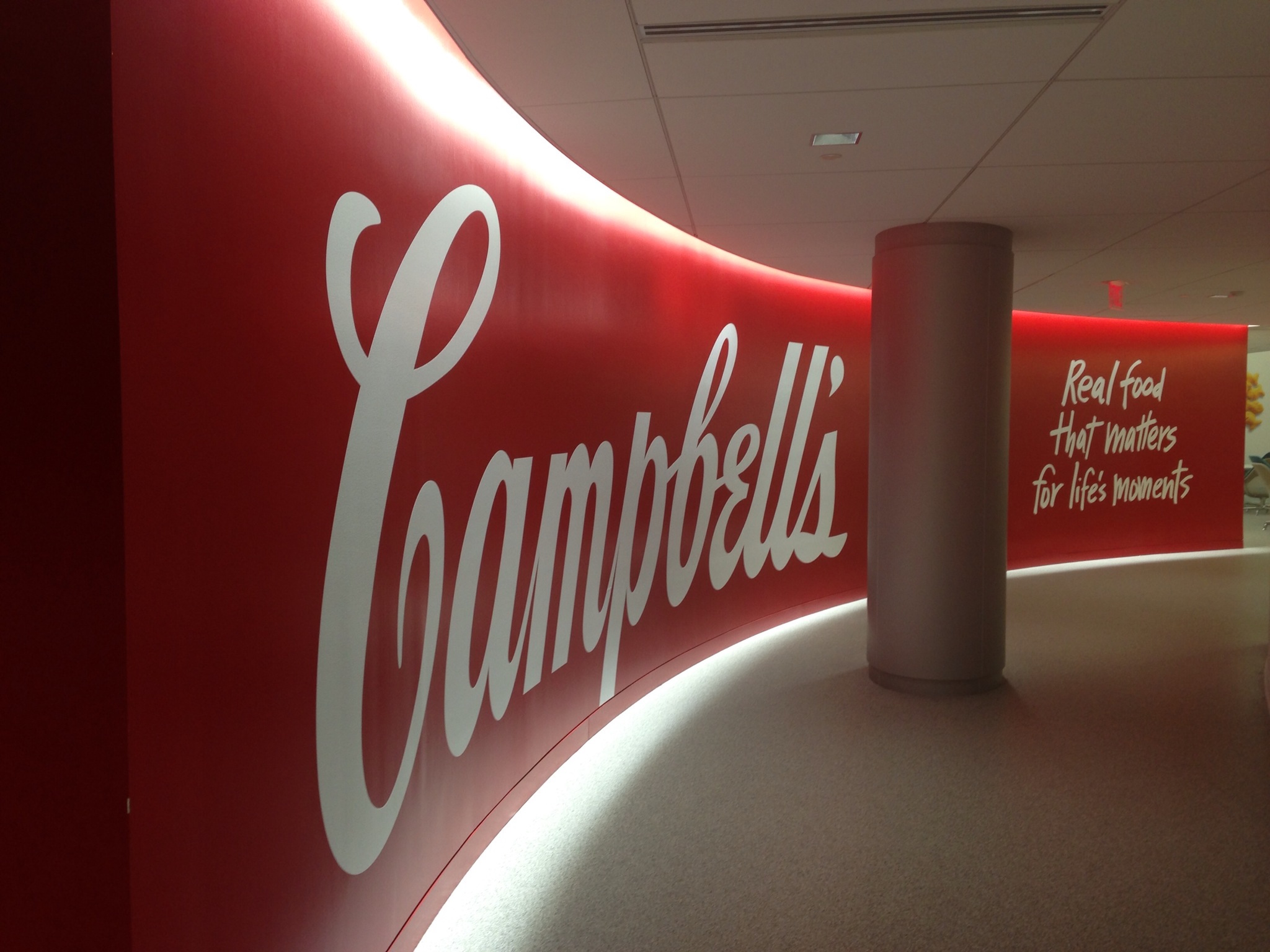 Campbell's Soup custom wall mural in lobby