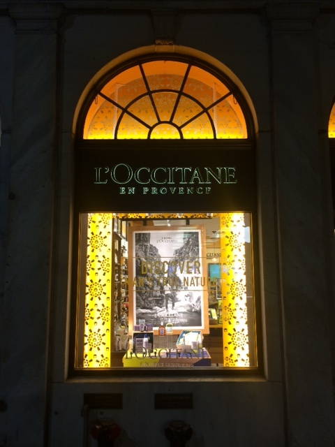 Loccitane window display