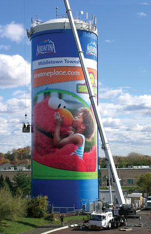 Sesame Place tower wrap