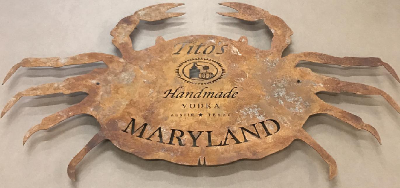 Crab metal art