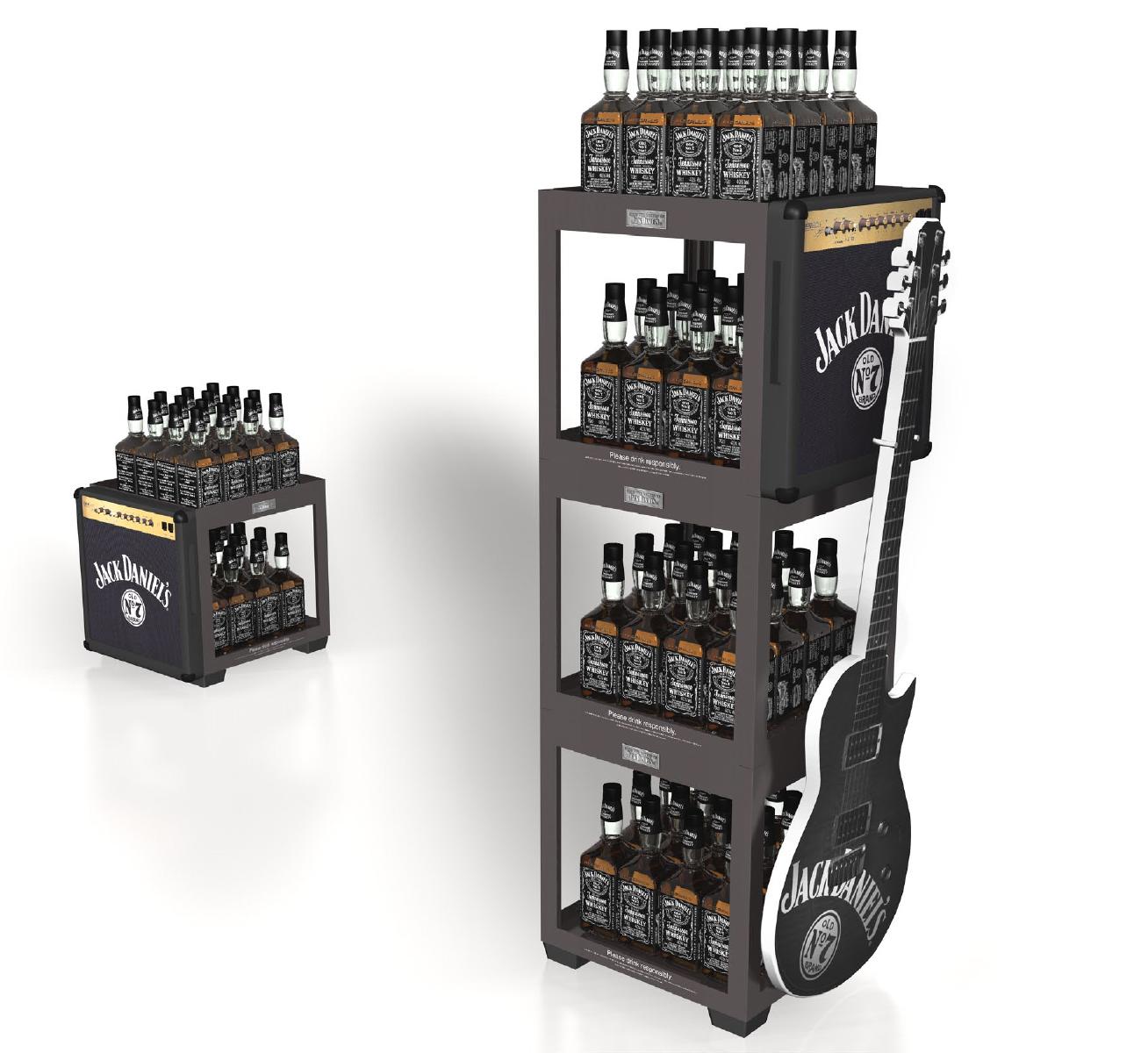 Brown Jack Daniel's Display Guitar 2012.jpg
