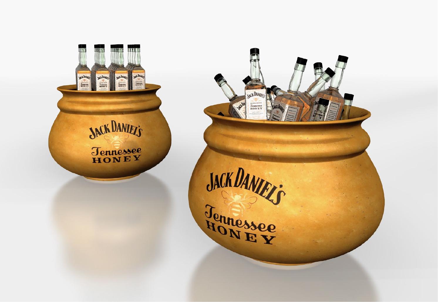Brown Jack Daniel's Tennesse Honey Display 2012.jpg