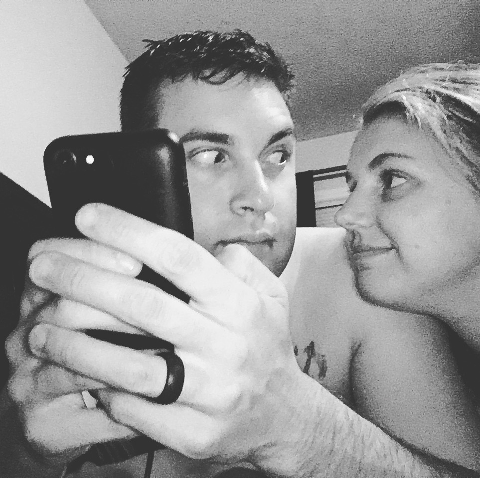 2150 || That's my husband for you. He was showing me pictures on his Facebook from before I knew him.