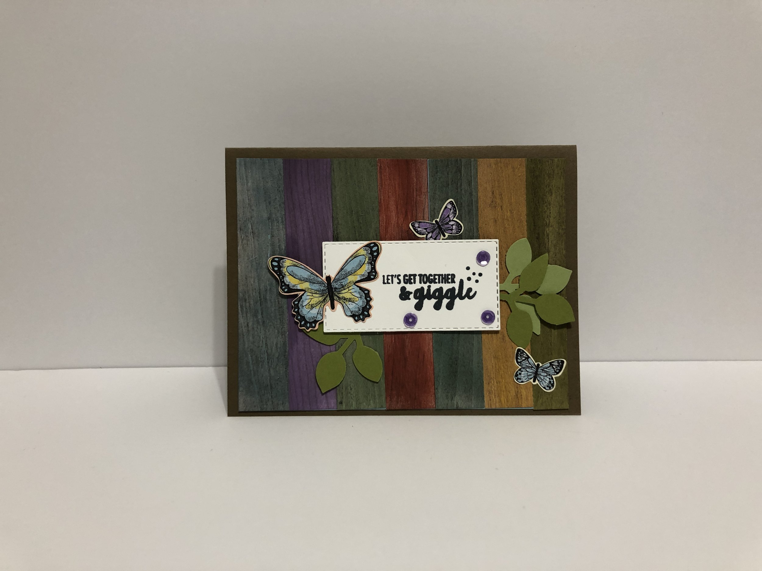 Wood Slat Card