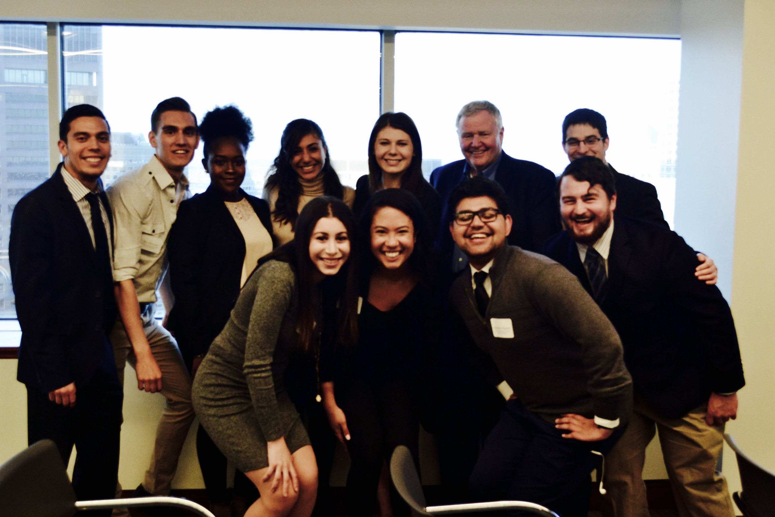 Israel Uncovered alumni from Boston University pose with President of CJP, Barry Shrage