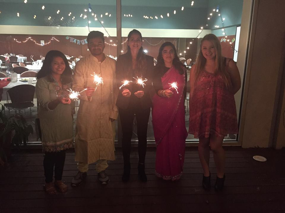 Students from the Jewish and Hindu communities at UT-Austin came together for a Hanukkah-Diwali celebration.
