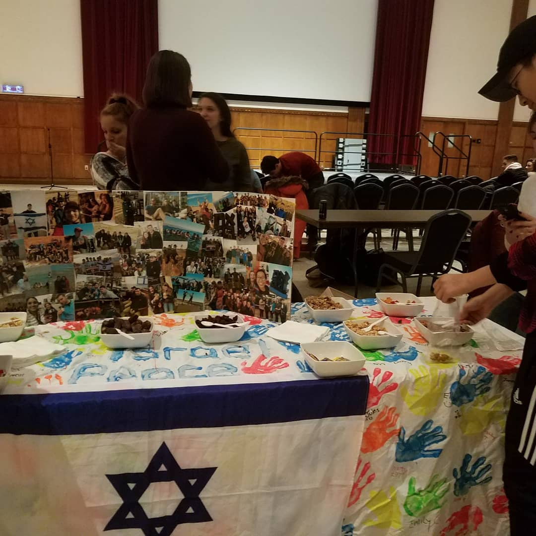 The Israel community hosted a table at the Multicultural Festival that highlighted Israel's positive contributions to peace, and the different initiatives they offer on campus.