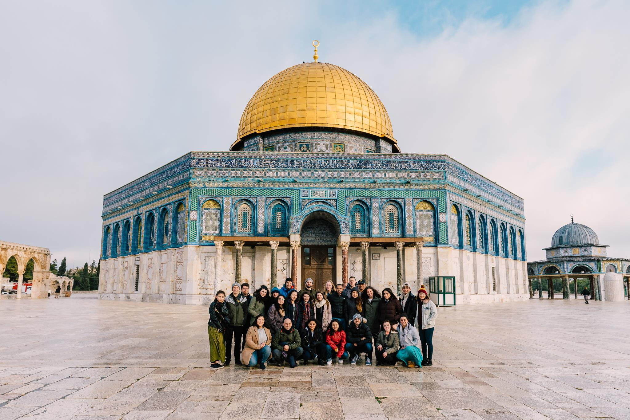 Students on Israel Uncovered visited numerous religious sites, including Mount of Beatitudes, the Western Wall, and the Temple Mount.