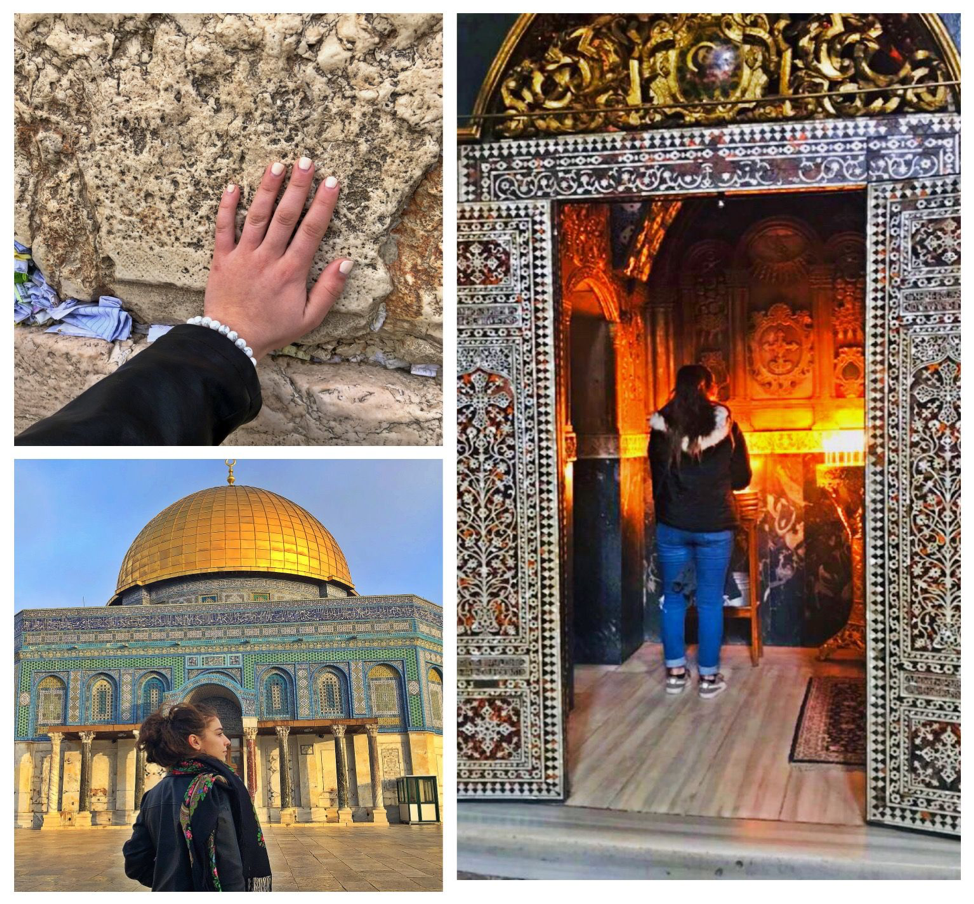 Arpine visited religious sites on Israel Uncovered, including the Western Wall, Al-Aqsa Mosque, and the Church of the Holy Sepulchre.