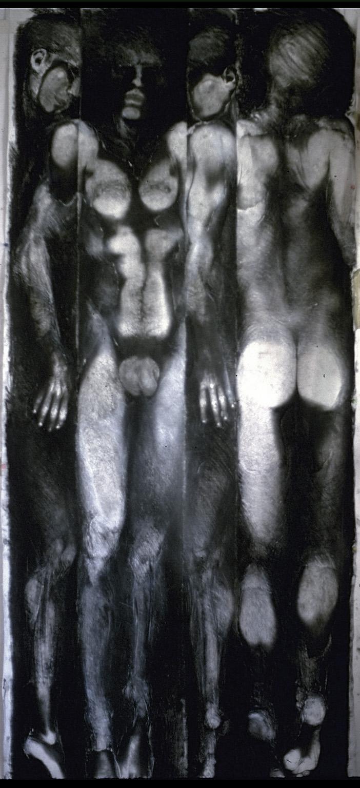 """""""Esquisse pour un corps rationalisé"""", 1984 83 x 210 cm"""