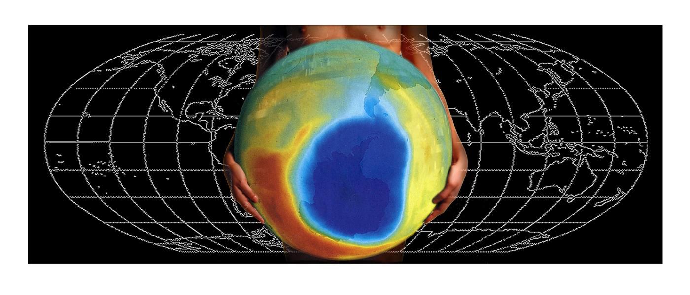 """""""Elle se sentait prête à porter le monde II"""", 2007.  122 x 51 cm, ed. 3/3"""