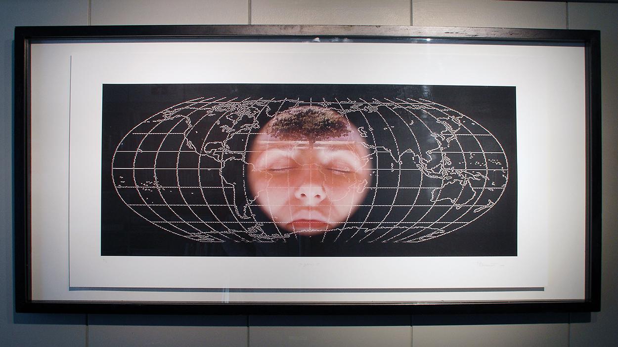"""O-zones I"", 2005 116 x 56 cm (142 x 68 cm framed)"
