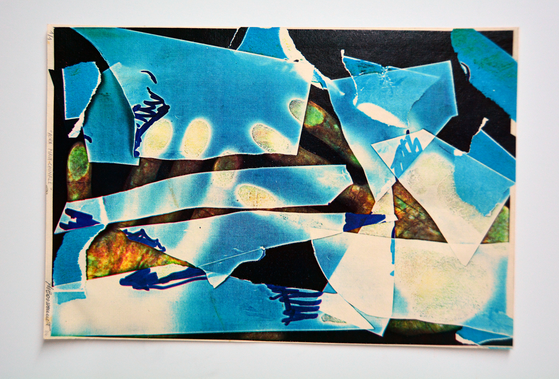"""""""Aura mainchinale"""", 1984 28 x 21.5 cm, ed. 1/1  Collection of the  Museo Internacional de Electrografía (MIDE) , Cuenca, Spain"""