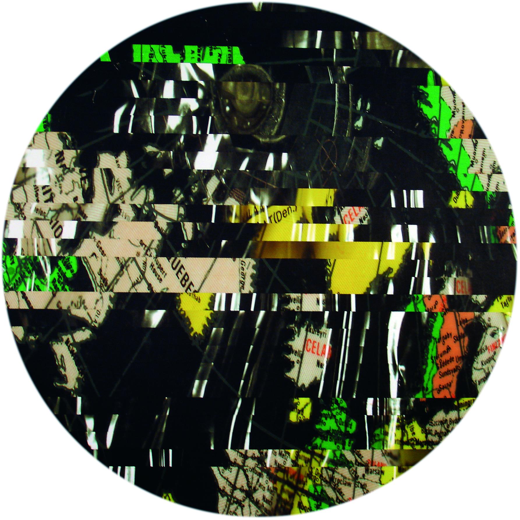 """""""Reconstruction I"""", 1993  Bubble Jet  laser print on photocopy, 44.5 x 44.5 cm"""