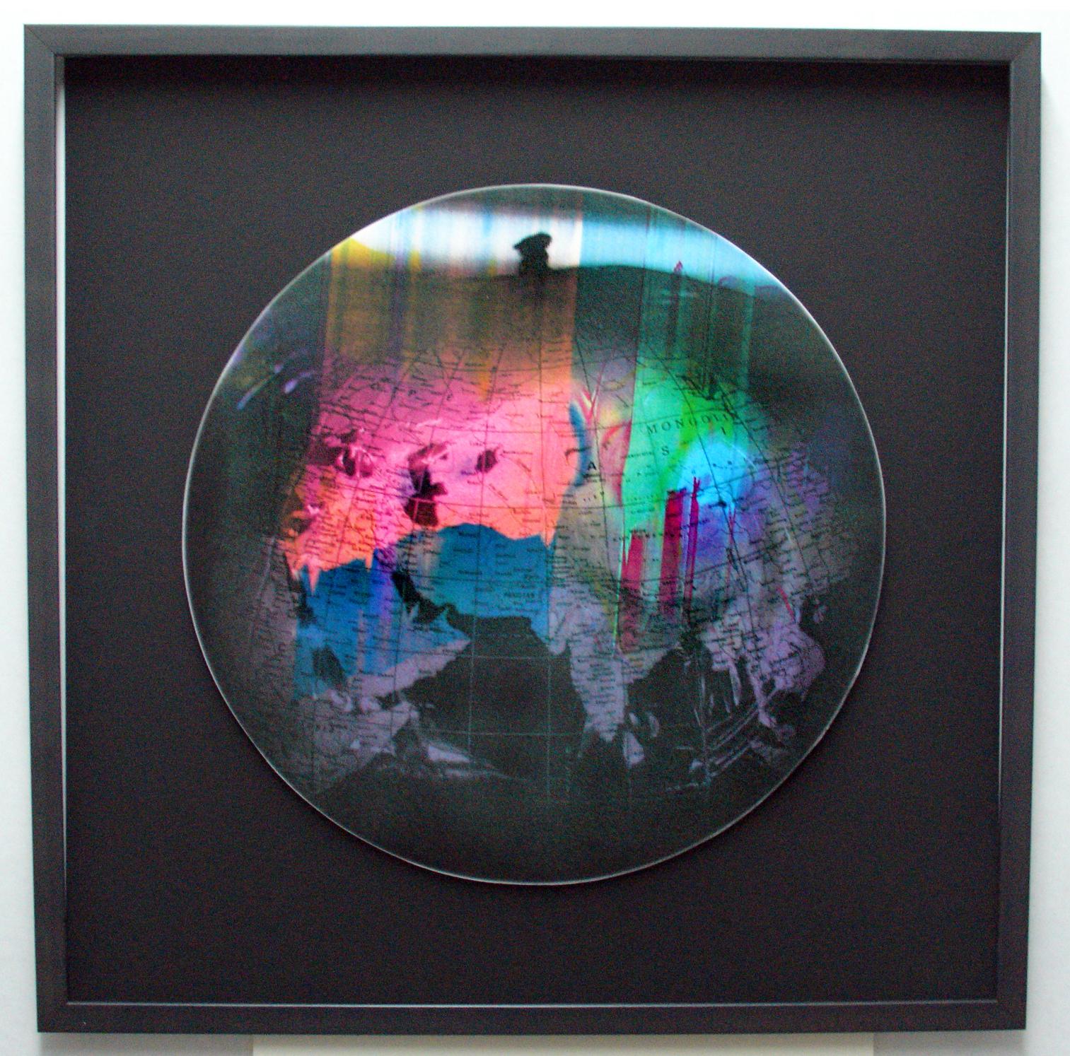 """En reconstruction I"", 2008 Digital rework of 1993  Bubble Jet  photocopy"