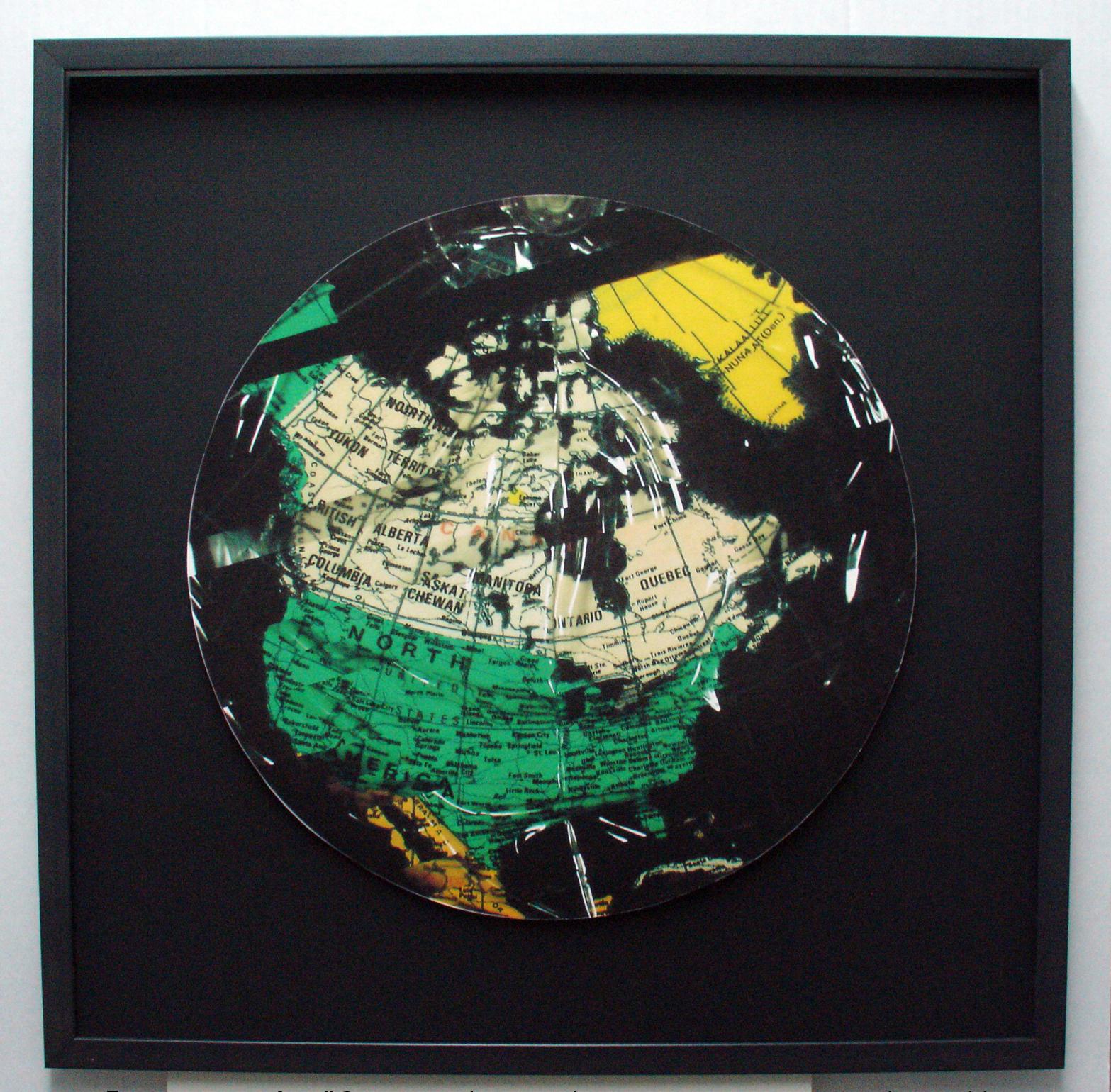 """En reconstruction III"", 2008 Digital rework of 1993  Bubble Jet  photocopy"