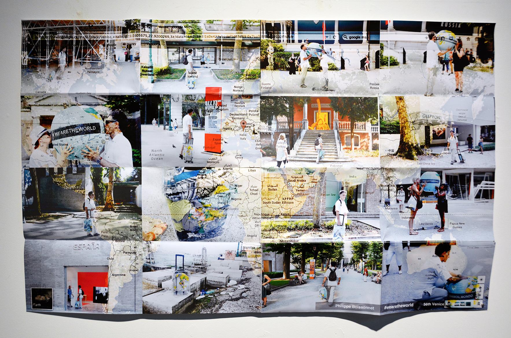 «#Wearetheworld» (Venise), 2015 Impression numérique à jet d'encre sur papier. Livre d'artiste, édition limitée 5/5 127 x 78 cm (livre ouvert)