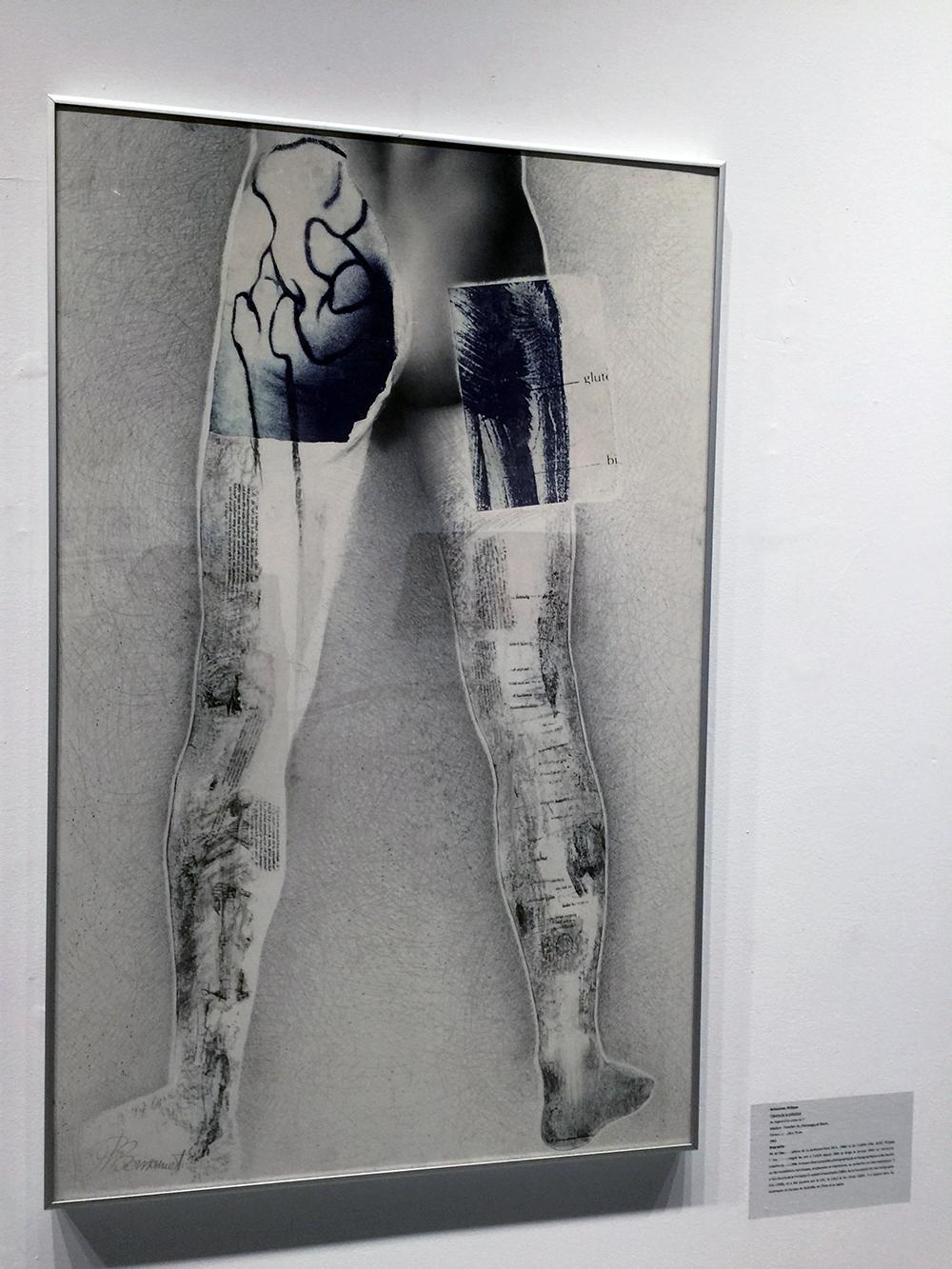 """""""Au regard d'un corps #11"""",  1983  71 x 110 cm  Collection of the  Fondation de l'Université du Québec à Trois-Rivières , Trois-Rivières,Qc"""
