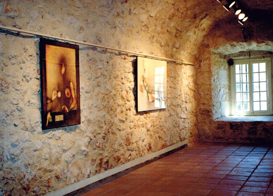 """""""Simulations"""" series. Exhibition at the Museo Internacional de Electrografia, Cuenca, Spain.1996"""