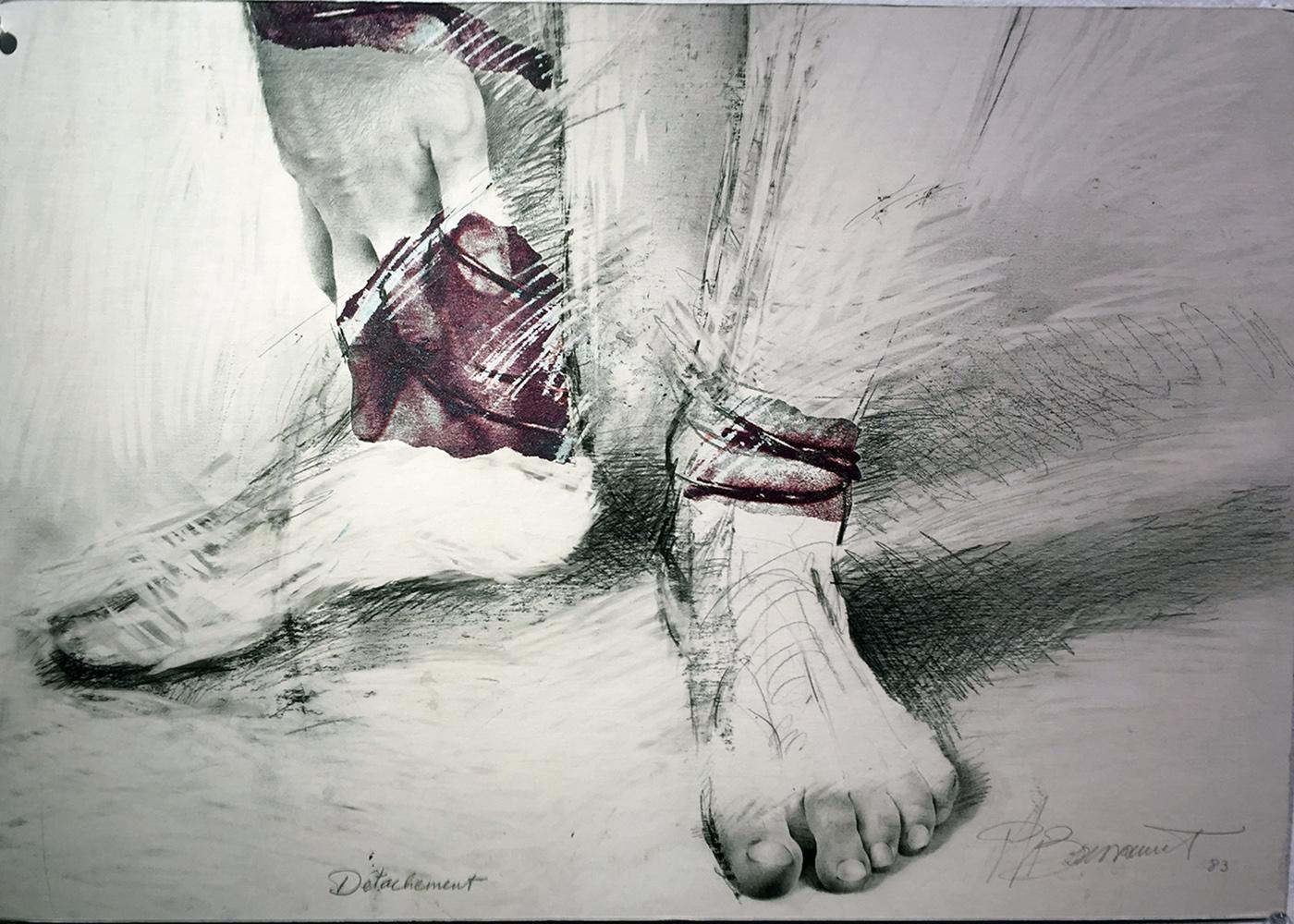 """""""Au regard d'un corps #17"""" , 1983    35 x 50 cm"""