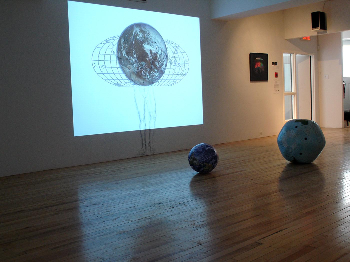 """""""En perdre le nord"""", 2008 Exhibition at the Atelier Silex, Trois-Rivières, Qc. 2009"""