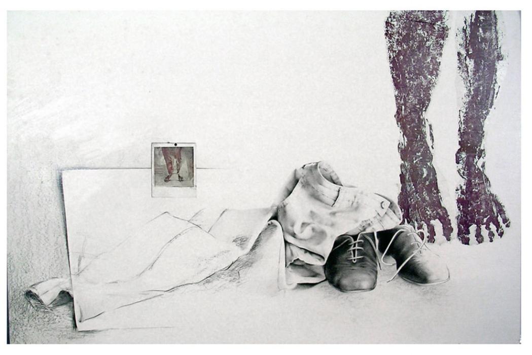 """""""Traces"""", 1982 110 x 70 cm Collection of the  Fondation de l'Université du Québec à Trois-Rivières , Trois-Rivières, Qc"""