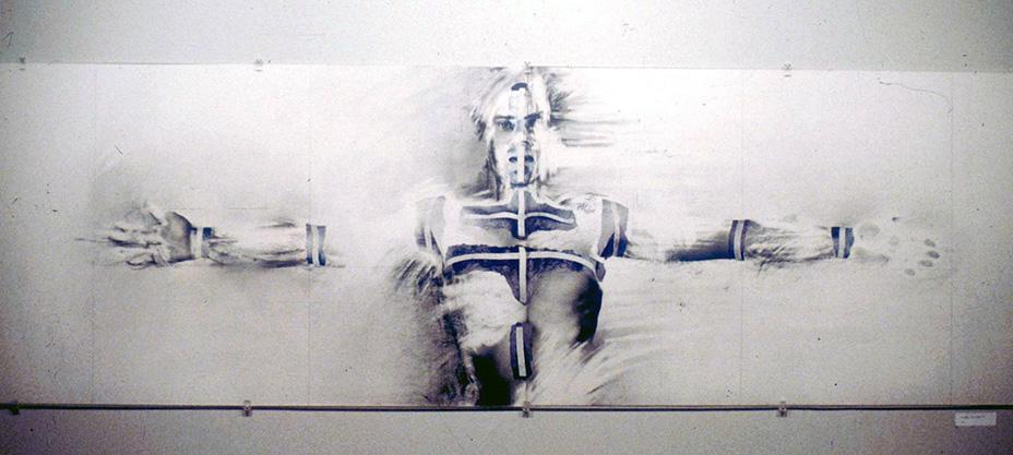 """""""Au regard d'un corps # 7""""  , 1983 71 x 220 cm"""