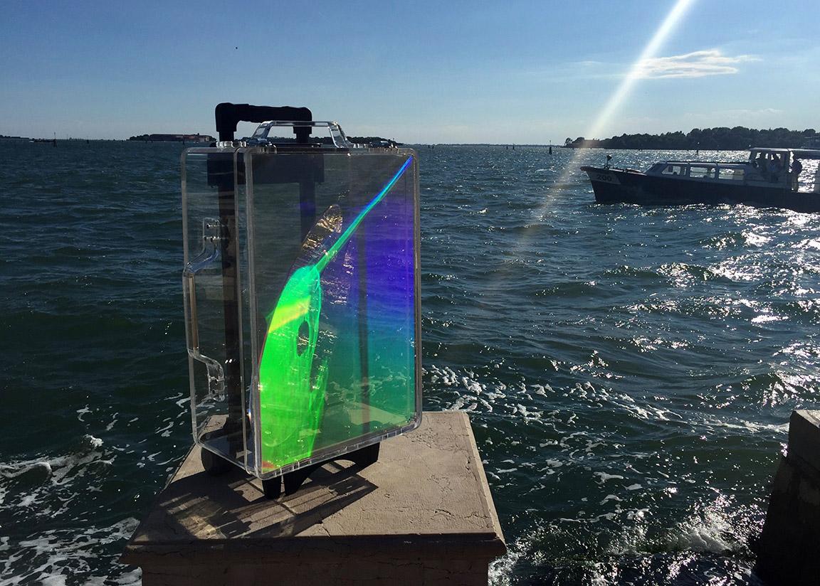«La valise holographique», Philippe Boissonnet