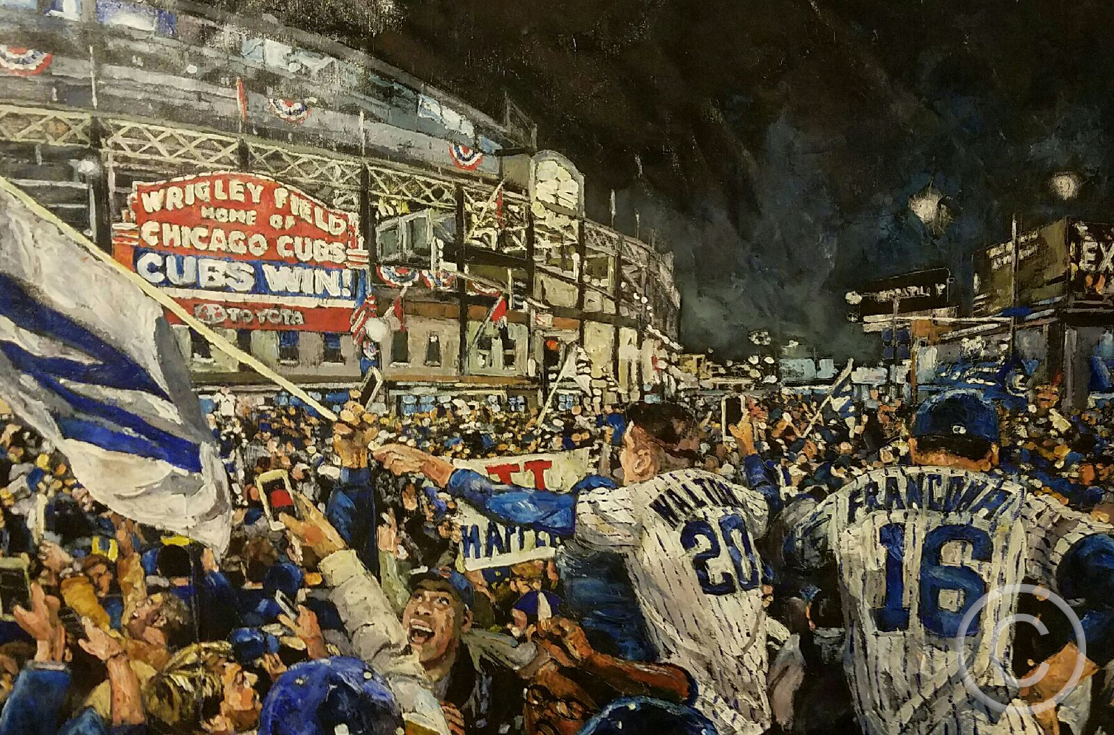 """Timeout Chicago """"New Exhibition Depicts Cubs World Series Victory in Paintings"""""""