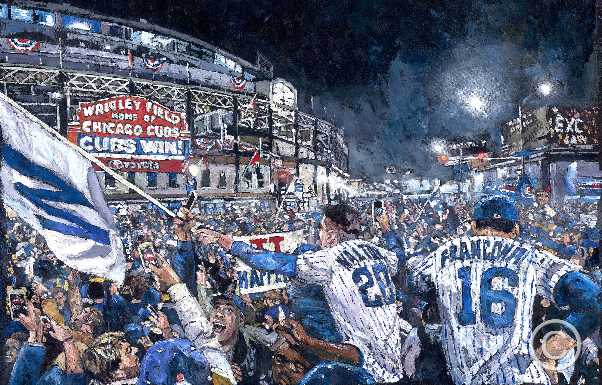 Timeout Chicago: A new exhibition depicts the Cubs World Series victory in paintings