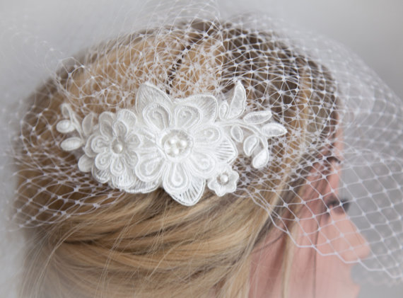 Birdcage veils are sure to bring the perfect modern finishing touch to your bridal look.
