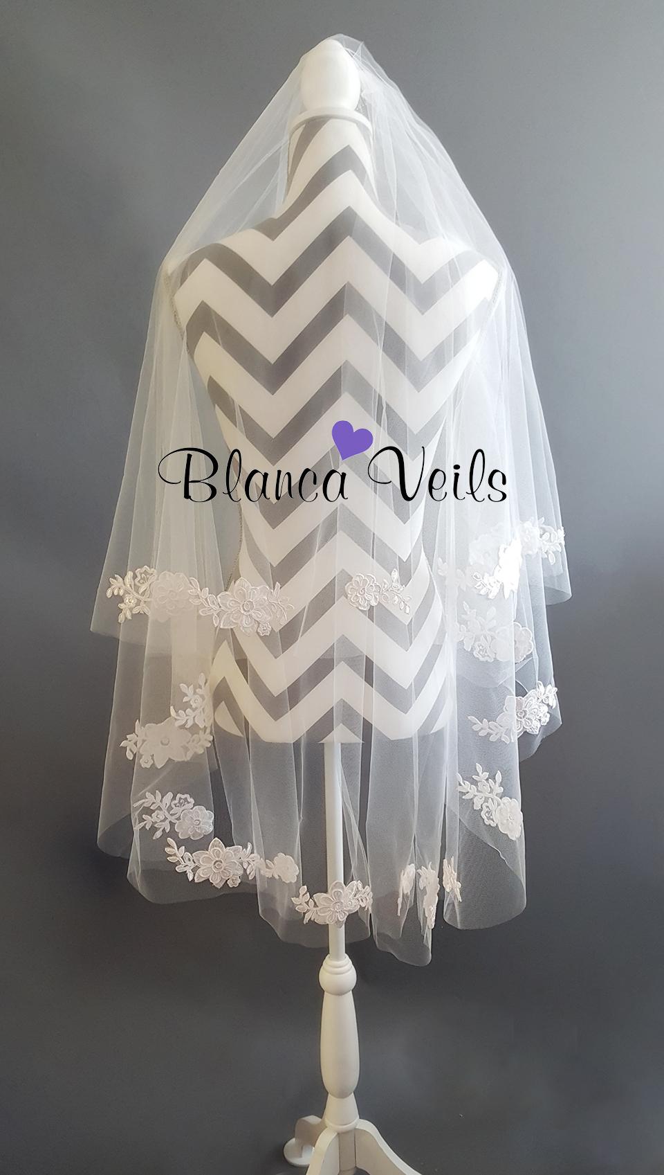 Applique Veil from BlancaVeils.com