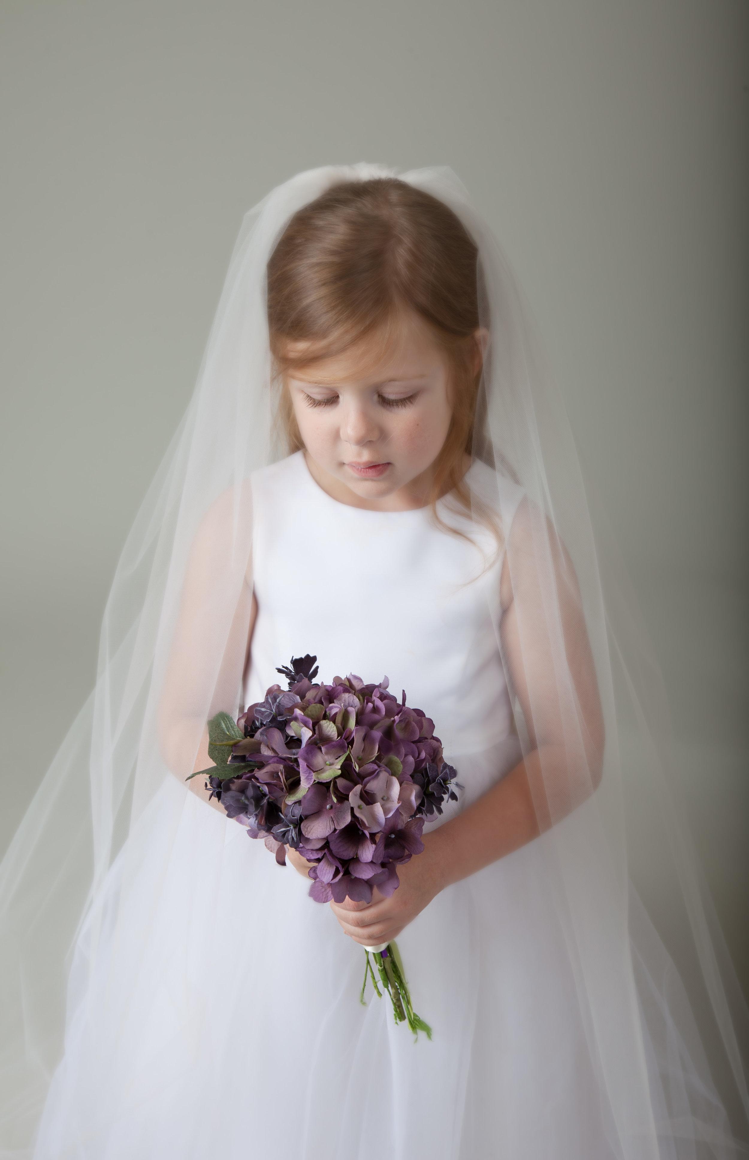 flower girl veil by BlancaVeils.com