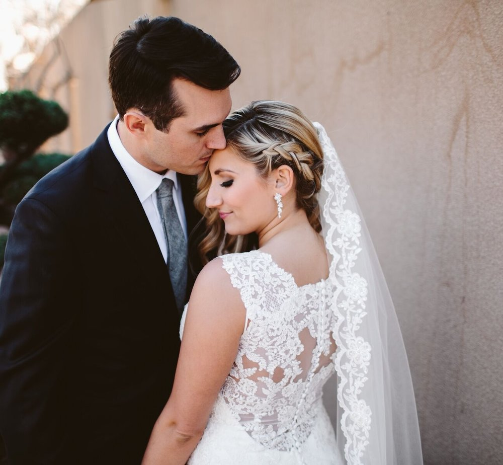 Sequined Lace Veil-$57