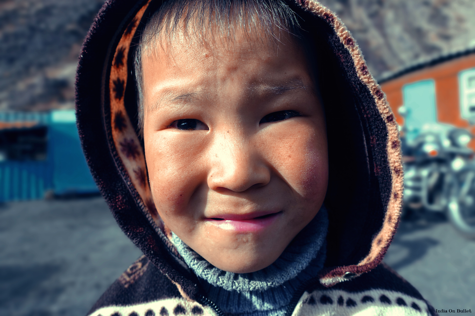 8.  Intimidated Smile  .   Tôô-Asuu, Kyrgyzstan    60cm x 40cm,   aluminium support, €56.00   ( Shipping Fee included)