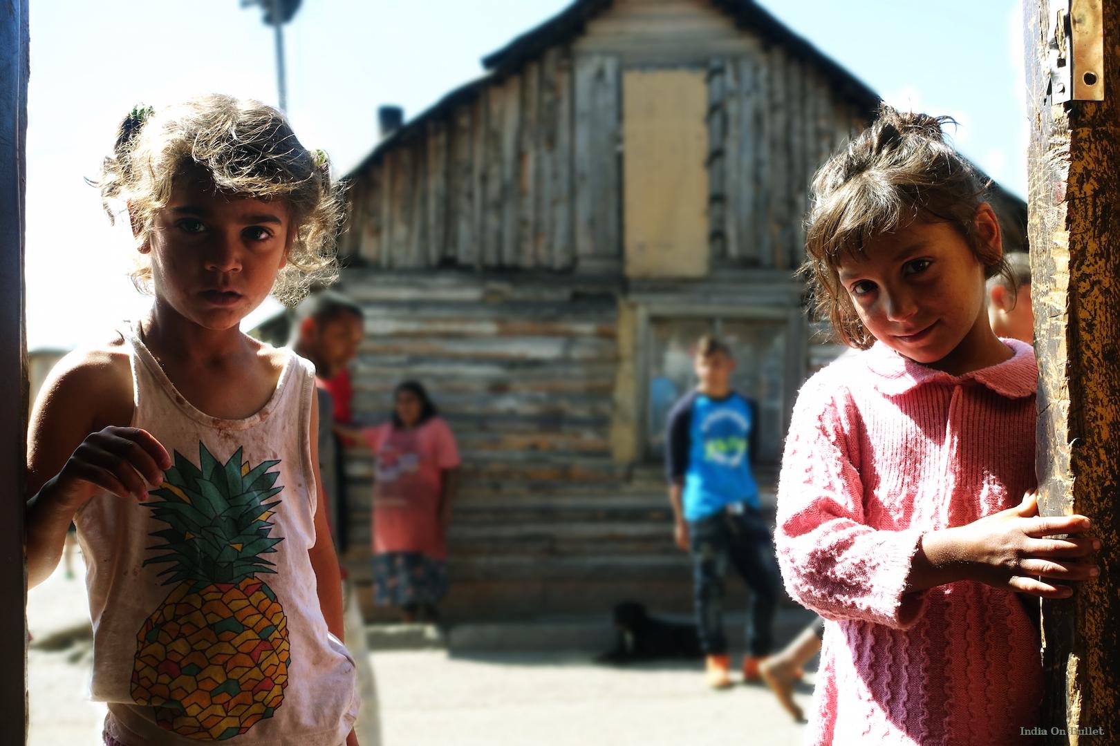 10.  At the door of a gypsy community .  Kezmarok  , Slovakia    120cm x 60cm,   aluminium support, €137.00   ( Shipping Fee included)
