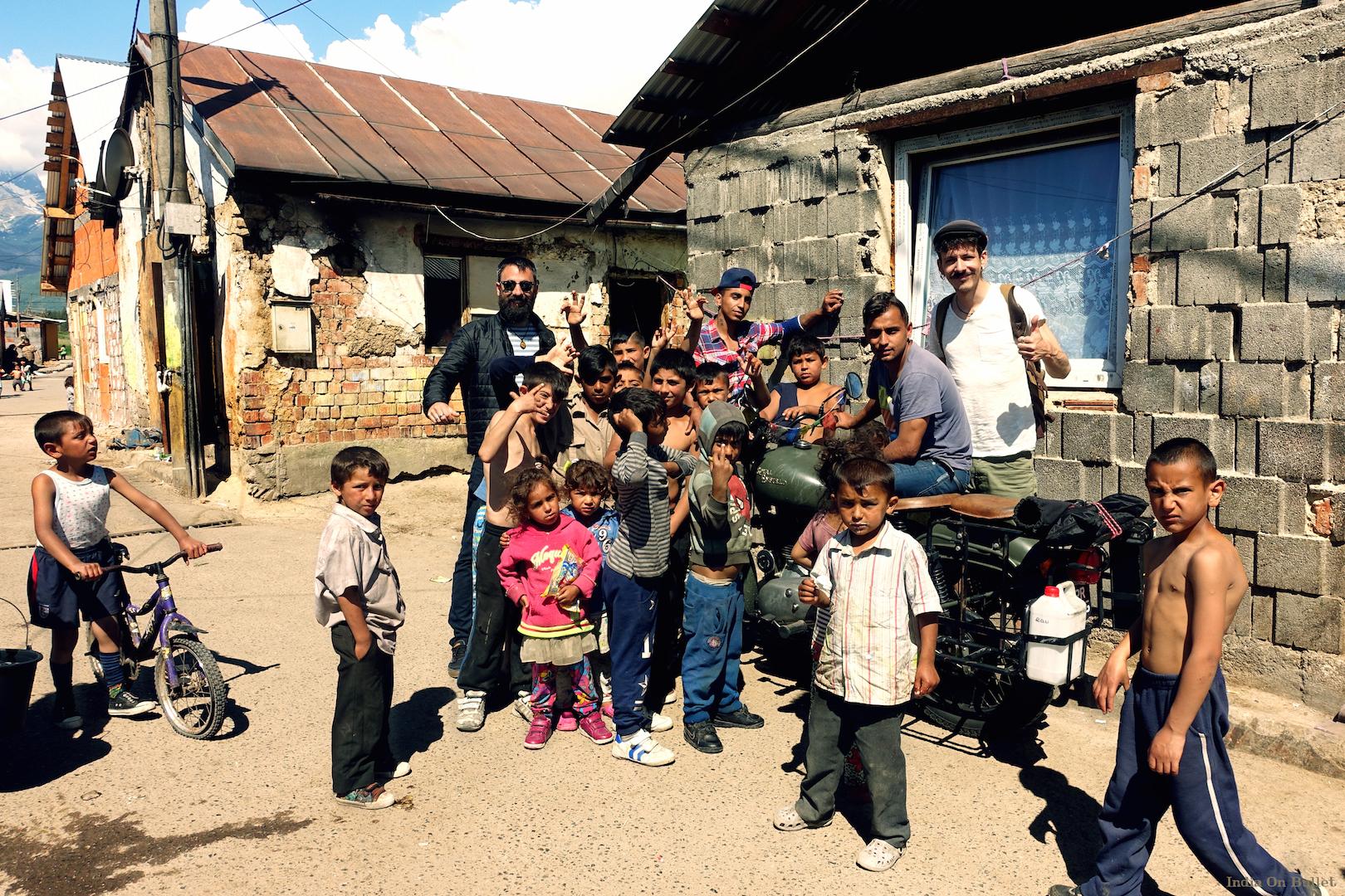 11.  In the heart of a gypsy slum .  Kezmarok  , Slovakia     60cm x 40cm,   aluminium support, €56.00   ( Shipping Fee included)