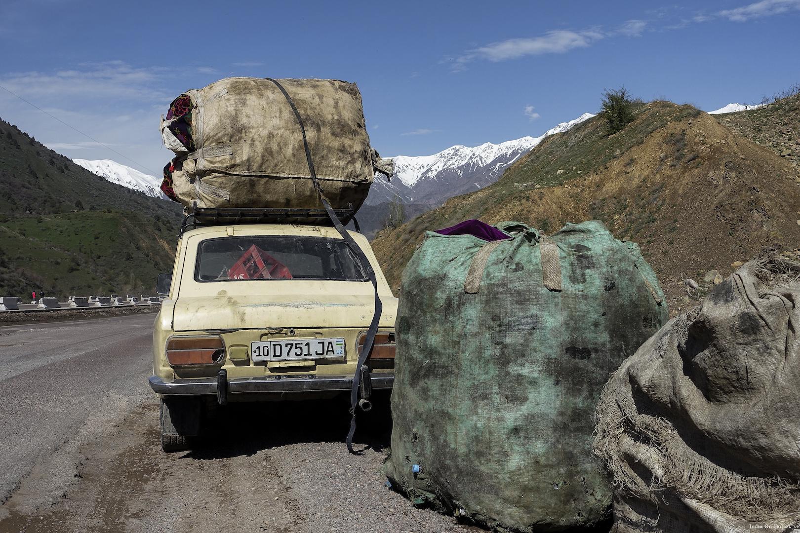 26.      On the Silk Road .    Region of Fergana, Uzbekistan.    60cm x 40cm,  aluminium support, €56.00   ( Shipping Fee included)