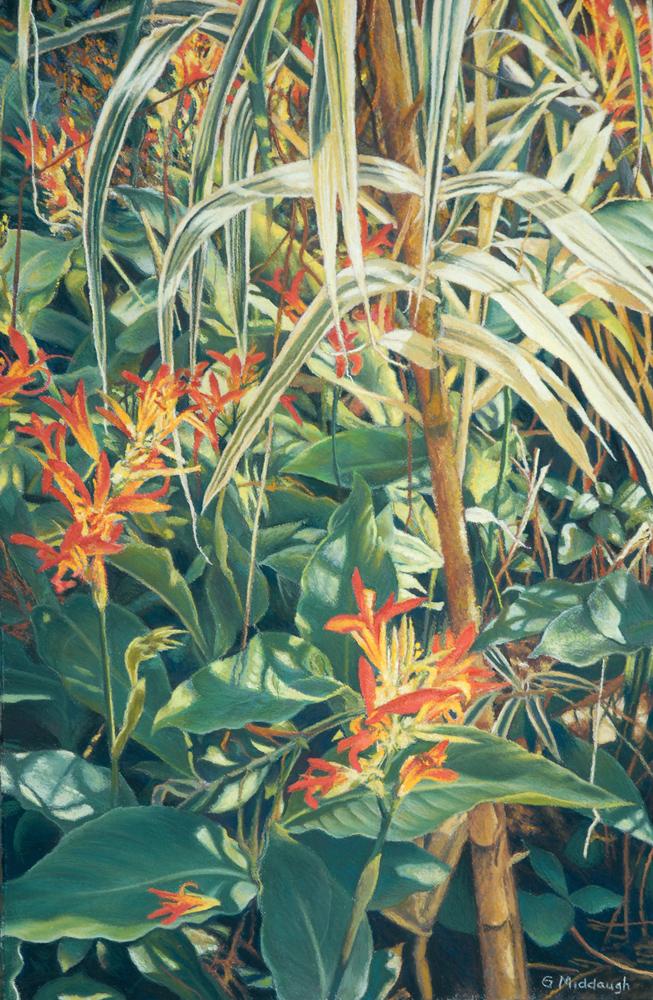 honeysuckle and white bamboo