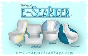 E-SeaRider bean bag chairs are the only way to get 60 miles offshore and take a nap while underway!