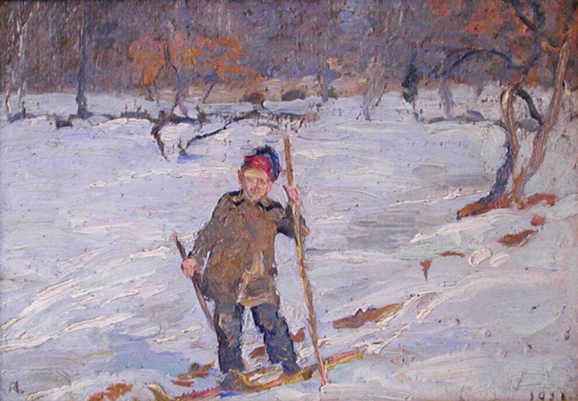 Paul on Homemade Skis