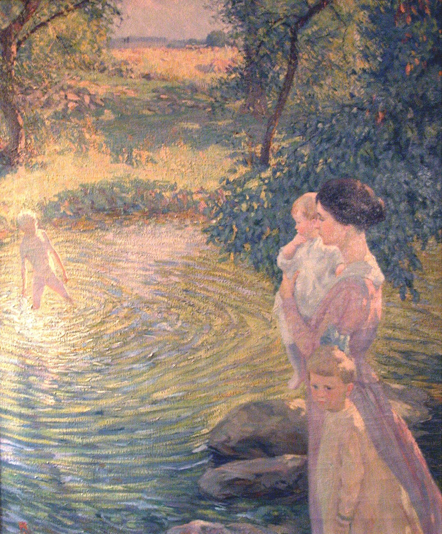 Artist's Wife with Three Children