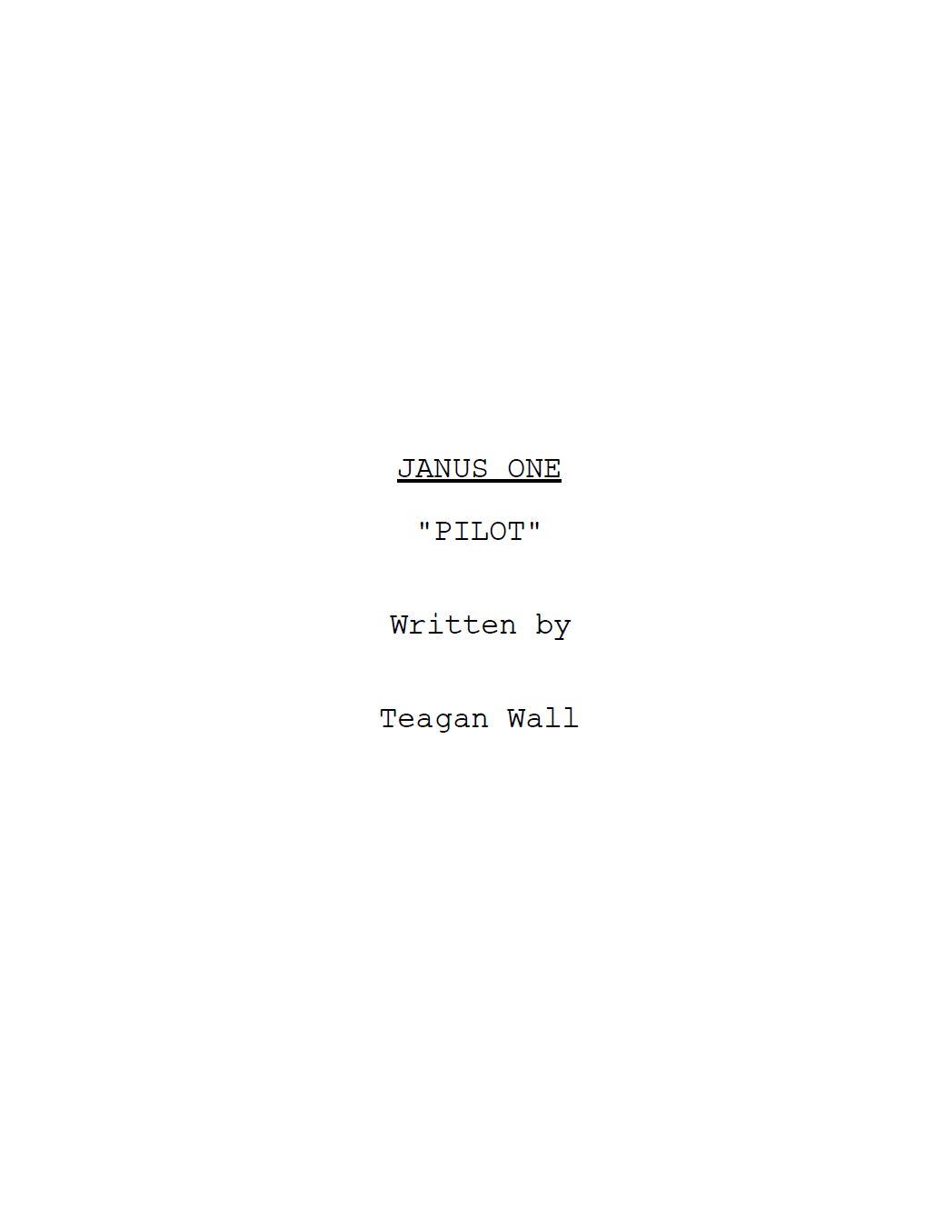 Janus one title page.JPG