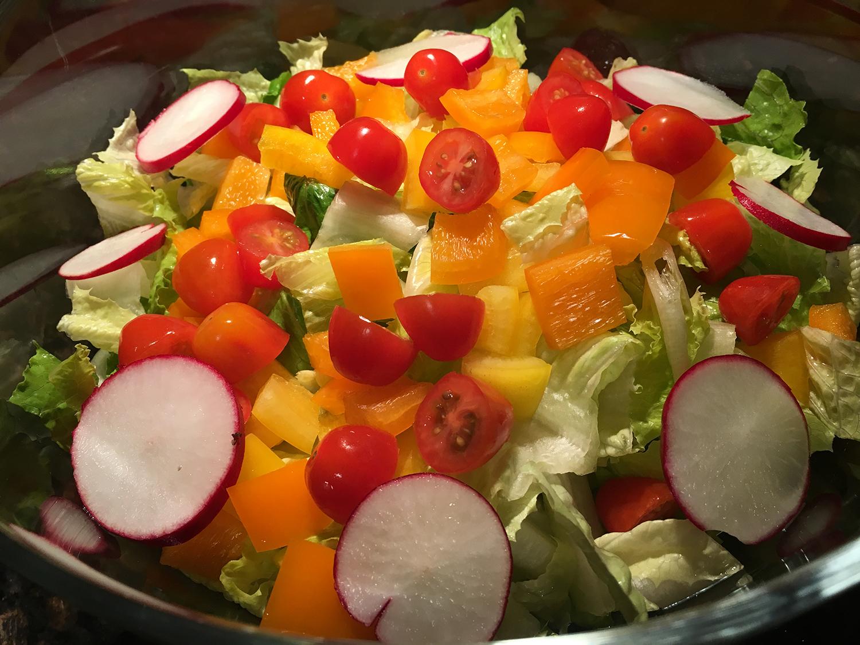 Simple Salad & Dressing